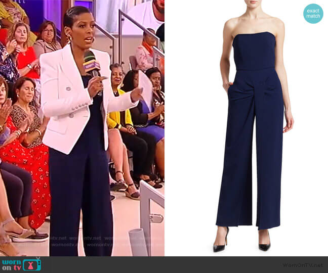 Monaco Strapless Jumpsuit by Roland Mouret worn by Tamron Hall  on Tamron Hall Show