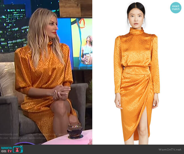 Kaira Dress by Ronny Kobo worn by Morgan Stewart  on E! News