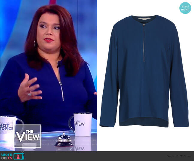 Arlesa Top by Stella McCartney worn by Ana Navarro  on The View