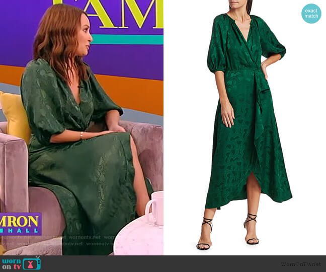 Olivia Dress by Saloni worn by Catt Sadler on the Tamron Hall Show