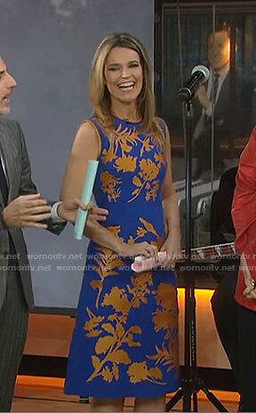 Savannah's blue floral dress on Today