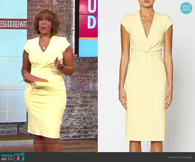Milano Turban Dress by Scanlan Theodore worn by Gayle King  on CBS This Morning