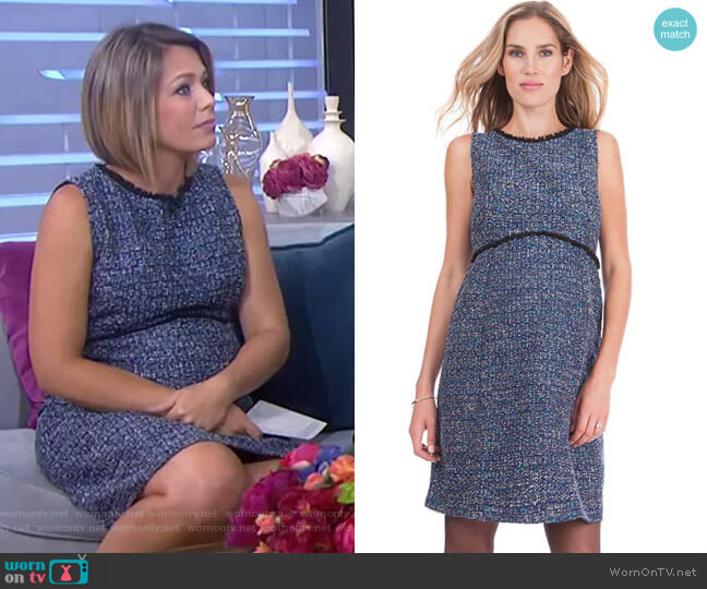 Woven Boucle Maternity Shift Dress by Seraphine worn by Dylan Dreyer  on Today