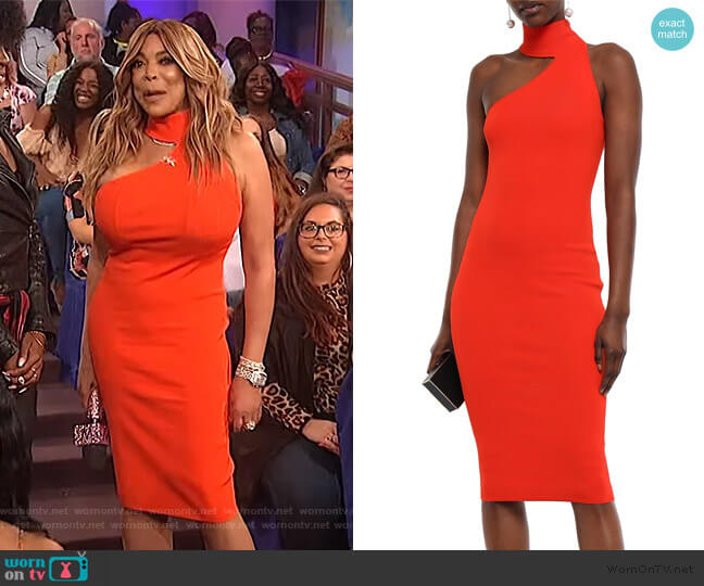 Annecy cutout ponte dress by Solace London worn by Wendy Williams  on The Wendy Williams Show