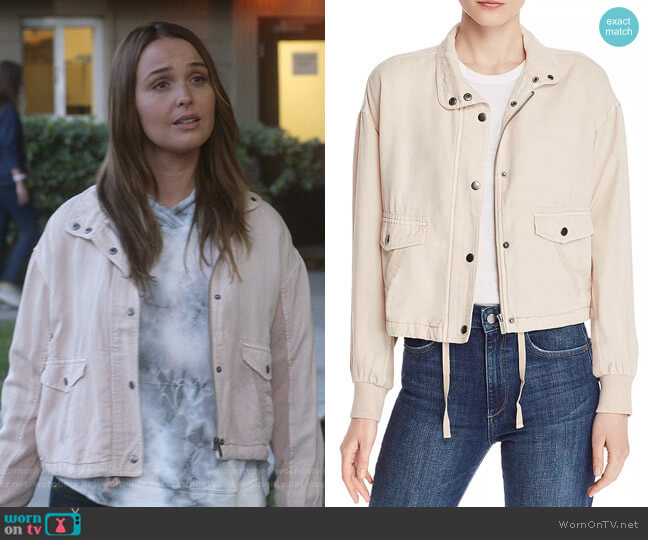 Austin Cropped Jacket by Splendid worn by Jo Wilson (Camilla Luddington) on Greys Anatomy