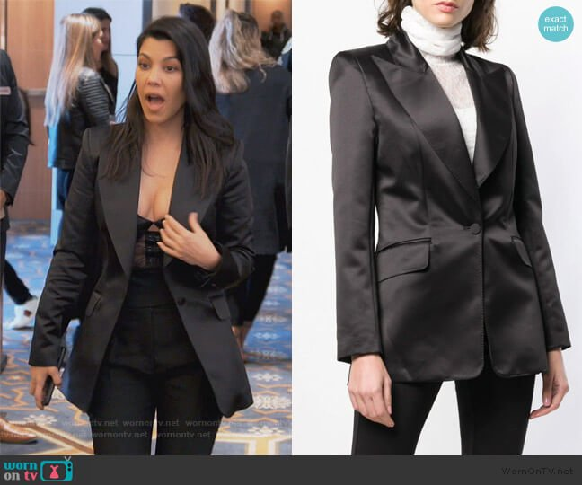 Single Breasted Blazer by Styland worn by Kourtney Kardashian  on Keeping Up with the Kardashians
