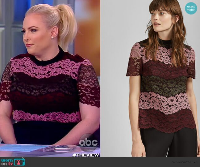 Merzey Top by Ted Baker worn by Meghan McCain  on The View