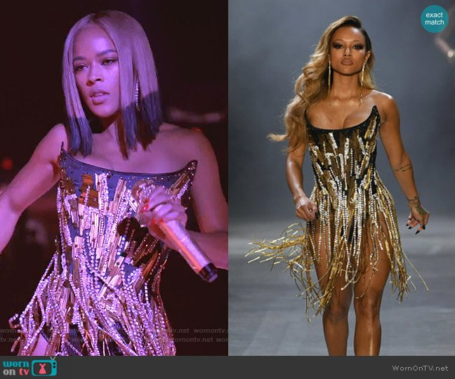 Runway Spring 2019 Collection by The Blonds worn by Tiana Brown (Serayah McNeill) on Empire