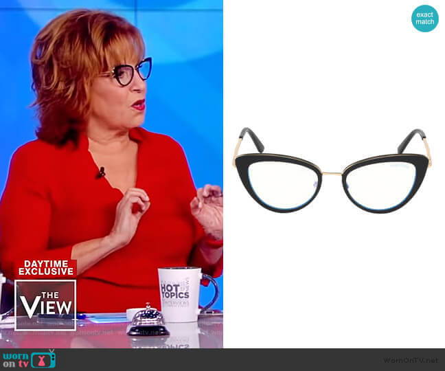 53MM Cat Eye Glasses by Tom Ford worn by Joy Behar  on The View
