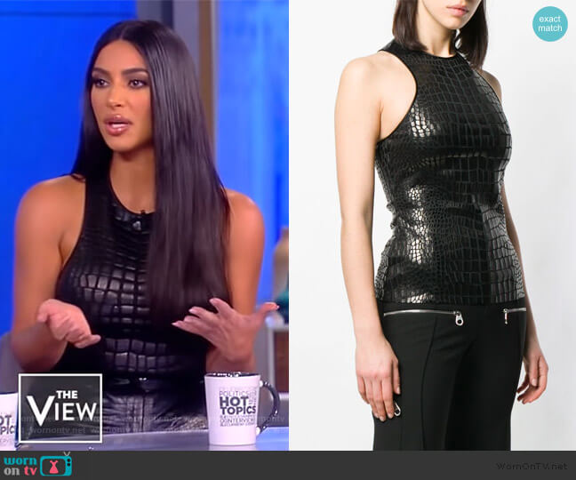 Crocodile Effect Top by Tom Ford worn by Kim Kardashian on The View