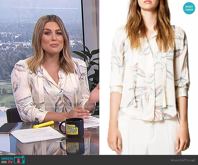 Touch Paradise Tunic by Zadig & Voltaire worn by Carissa Loethen Culiner  on E! News