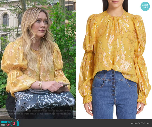 Aster Blouse by Ulla Johnson worn by Kelsey Peters (Hilary Duff) on Younger