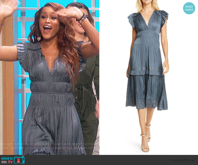 Claudia Dress by Ulla Johnson worn by Eve  on The Talk