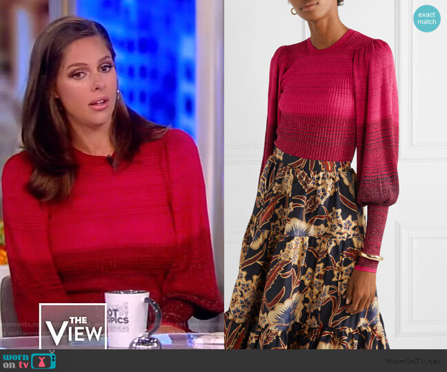 Dax Pullover by Ulla Johnson worn by Abby Huntsman  on The View