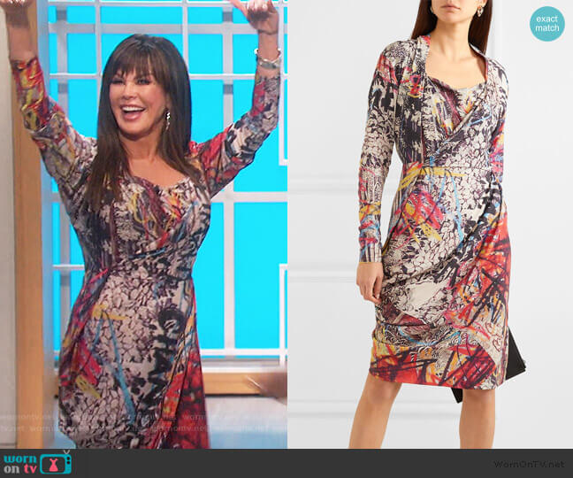 Grand Fond Printed Jersey Dress by Vivienne Westwood worn by Marie Osmond  on The Talk