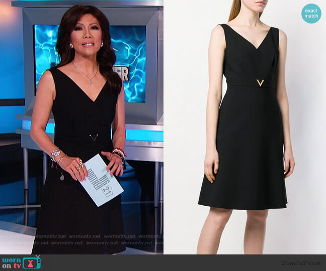 V Detail Dress by Valentino worn by Julie Chen  on Big Brother