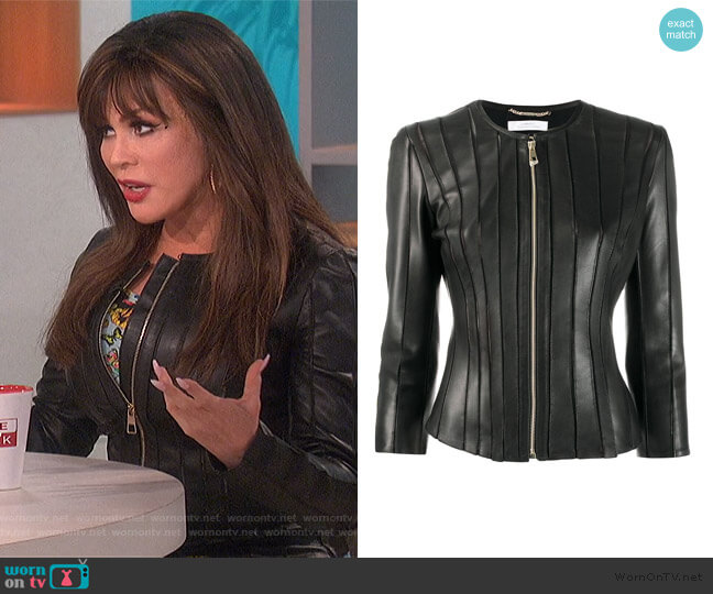 Stitched Panel Jacket by Versace worn by Marie Osmond  on The Talk