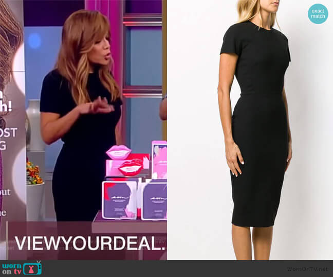 Short Sleeve Fitted Dress by Victoria Beckham worn by Sunny Hostin  on The View