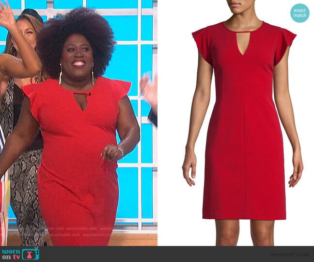 Flutter-Sleeve Mini Dress by Vince Camuto worn by Sheryl Underwood  on The Talk