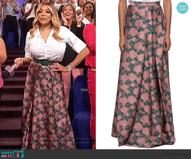 Floral Skirt by Vivienne Westwood worn by Wendy Williams  on The Wendy Williams Show