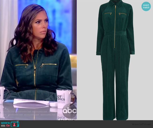 Corduroy Jumpsuit by Whistles worn by Abby Huntsman  on The View