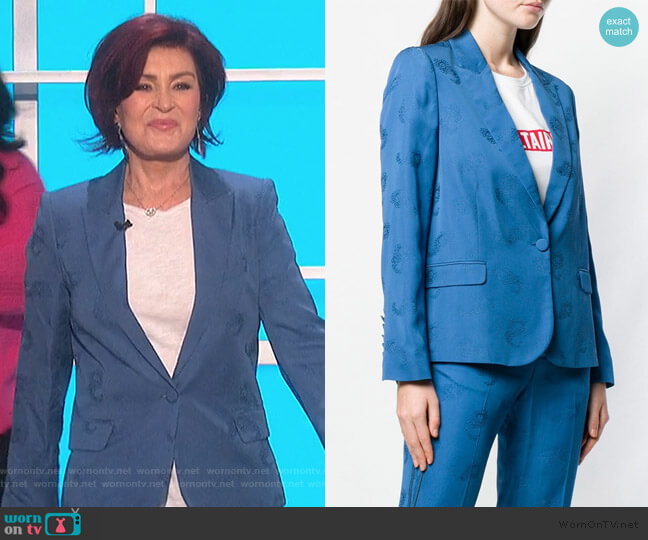 Victor paisley blazer by Zadig & Voltaire worn by Sharon Osbourne  on The Talk
