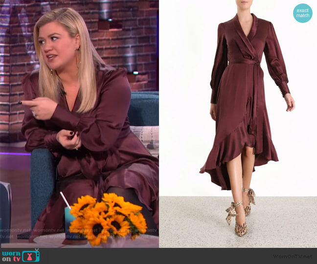 Espionage Dress by Zimmermann worn by Kelly Clarkson  on The Kelly Clarkson Show