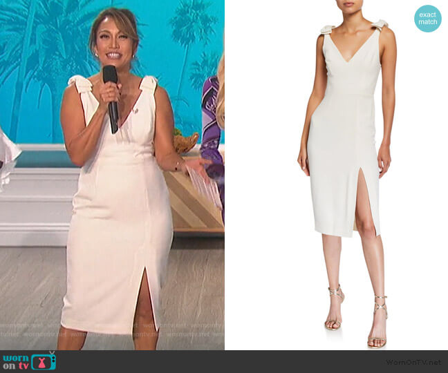 Espionage Sleeveless Bow Dress by Zimmermann worn by Carrie Inaba  on The Talk