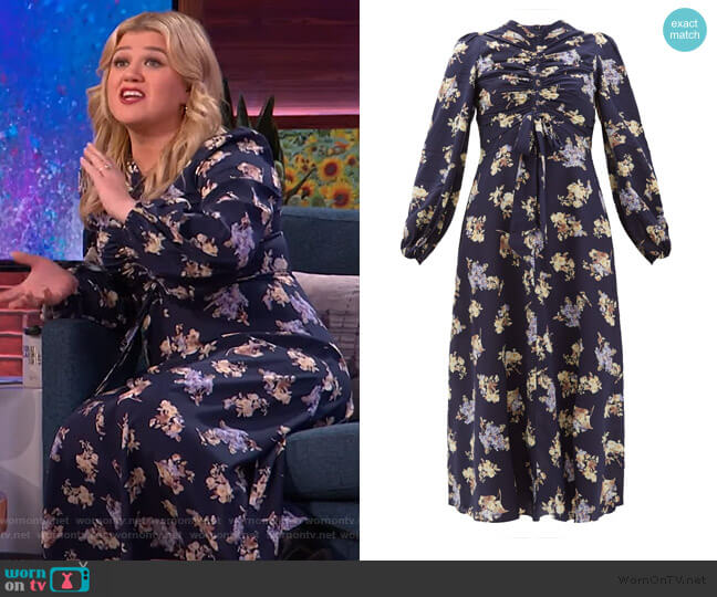 Sabotage Floral Dress by Zimmermann worn by Kelly Clarkson  on The Kelly Clarkson Show