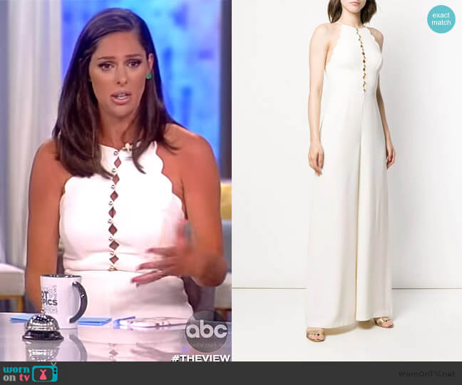 Scallop Edge Jumpsuit by Zimmermann worn by Abby Huntsman  on The View