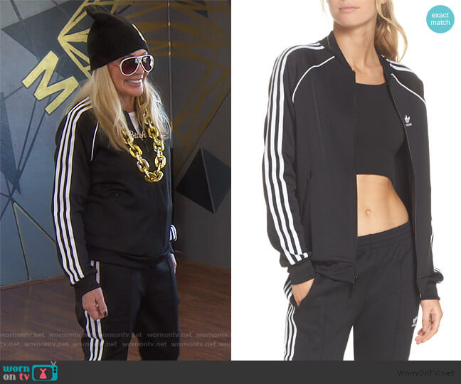 SST Track Jacket by Adidas worn by Shannon Beador  on The Real Housewives of Orange County