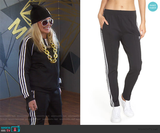 SST Track Pants by Adidas worn by Shannon Beador  on The Real Housewives of Orange County