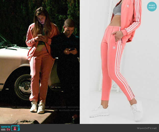 Adidas Originals Track Joggers in Pink worn by McAfee (Laura Dreyfuss) on The Politician
