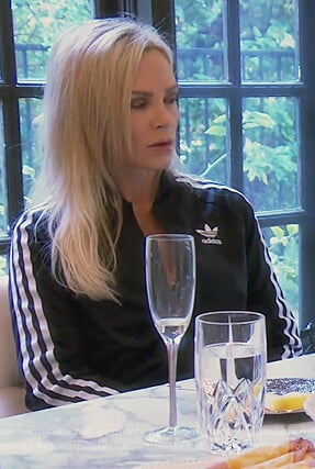 Tamra's black Adidas track jacket on The Real Housewives of Orange County