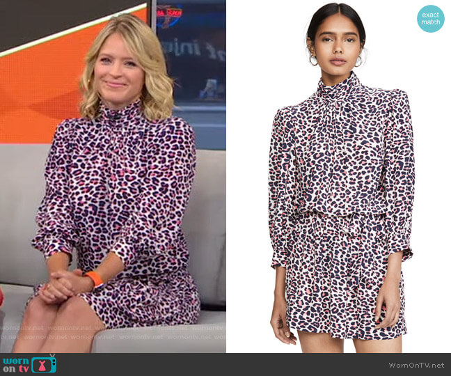 Rivali Print Le Dress by Zadig & Voltaire worn by Sara Haines  on Good Morning America