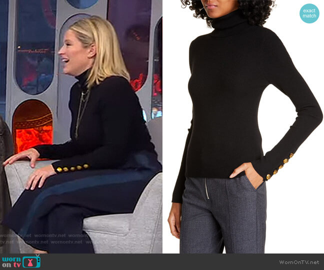 Desi Turtleneck Pullover by A.L.C. worn by Sara Haines  on Good Morning America