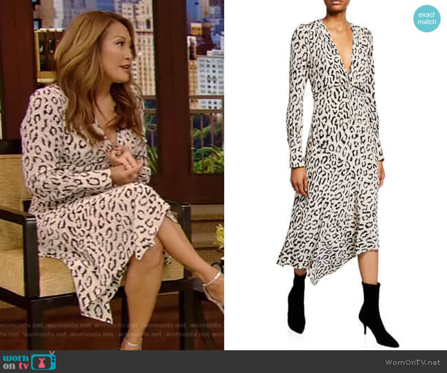 Eden Dress by A.L.C. worn by Carrie Inaba on Live with Kelly and Ryan