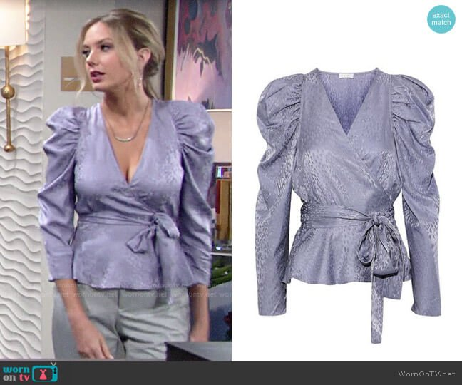 ALC Palermo Lilac Top worn by Abby Newman (Melissa Ordway) on The Young & the Restless