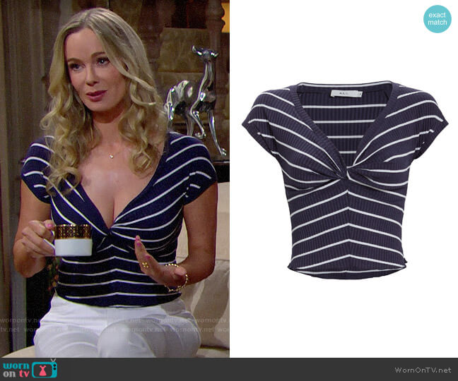 A.L.C. Sabina Top worn by Donna Logan (Jennifer Gareis) on The Bold & the Beautiful