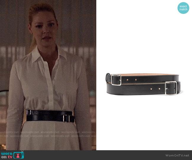 Alexander McQueen Leather Waist Belt worn by Samantha Wheeler (Katherine Heigl) on Suits