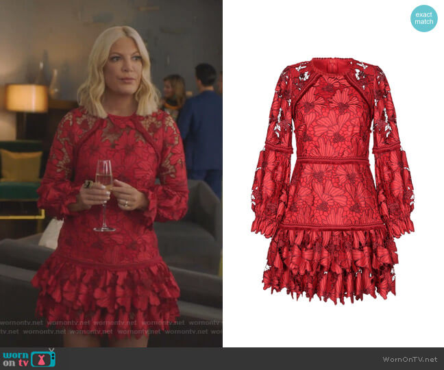 Fransisca Dress by Alexis worn by Tori Spelling  on BH90210