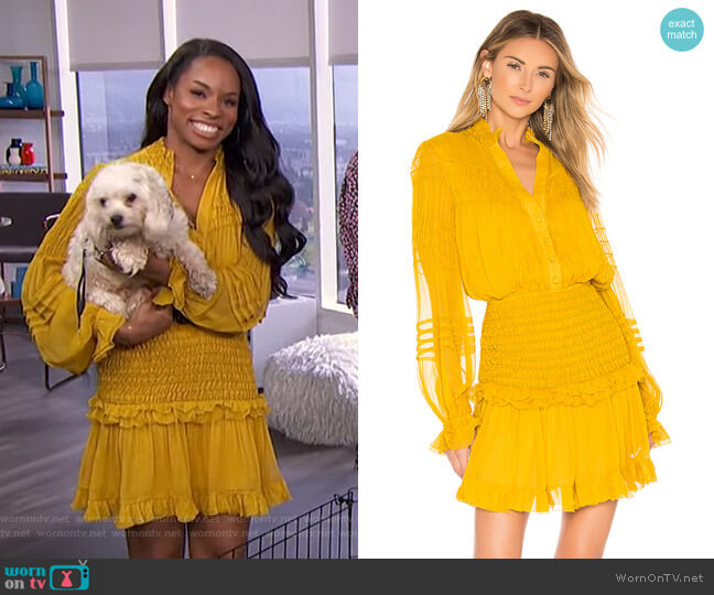 Shaina Dress by Alexis x Revolve worn by Devyn Simone on E! News