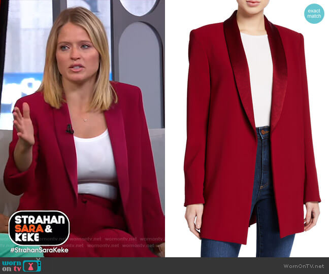 Jace Oversized Blazer by Alice + Olivia worn by Sara Haines  on Good Morning America