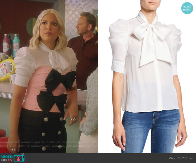Maylee Blouse by Alice + Olivia worn by Tori Spelling  on BH90210