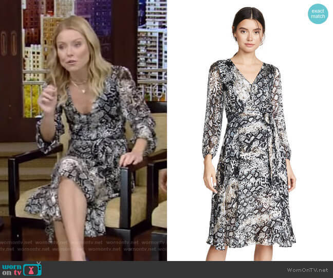 Coco Dress by Alice + Olivia worn by Kelly Ripa  on Live with Kelly & Ryan