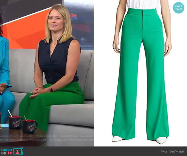 Dylan Pants by Alice + Olivia worn by Sara Haines  on Good Morning America