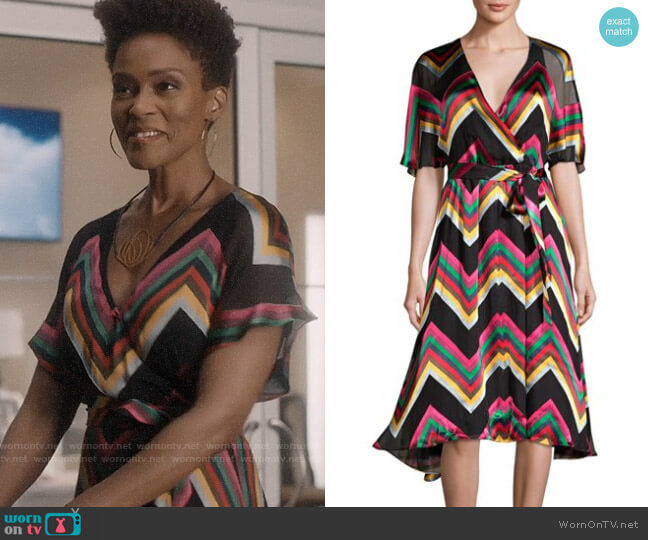 Alice + Olivia Lexa Dress worn by Kerissa Greenleaf (Kim Hawthorne) on Greenleaf