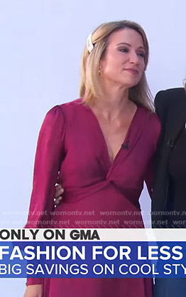 Amy's pink twist front dress on Good Morning America