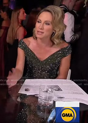 Amy's sequin off-shoulder gown at the Emmys 2019 on Good Morning America