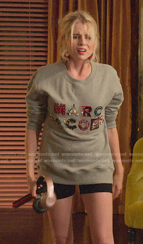 Astrid's embellished MARC JACOBS sweatshirt on The Politician